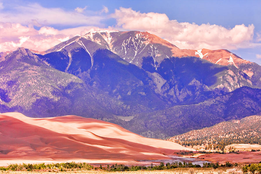 The Great Colorado Sand Dunes; Great Sand Dunes National Park And Preserve; Sand Dunes ; Sand Dunes  Canvas Art; Colorado; Sand; Dunes; Nature Photography Prints; Landscape Photography Prints; Fine Art Photography; Insogna;  Sand Dunes Prints For Sale; Commercial Photography Art Prints; Sand Dunes Greetings Card; Nature Photography; Nature; Galleries; Gallery; Landscape; Scenic;  Photograph - Colorado Great Sand Dunes National Park  by James BO  Insogna
