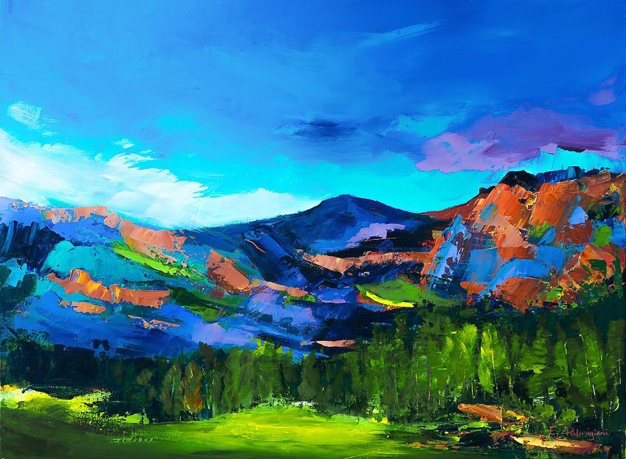 Colorado Hills Painting