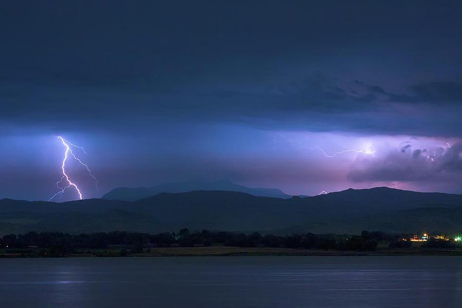 Colorado Rocky Mountain Foothills Storm Photograph