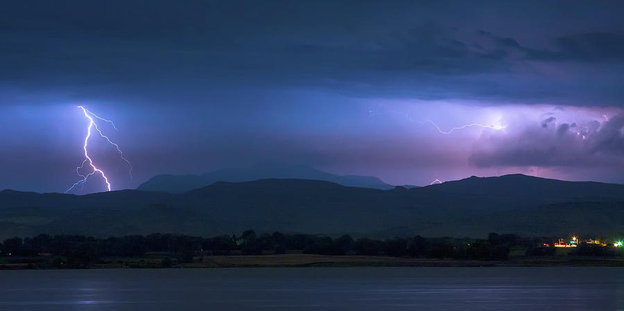 Colorado Rocky Mountain Foothills Storm Panorama Photograph