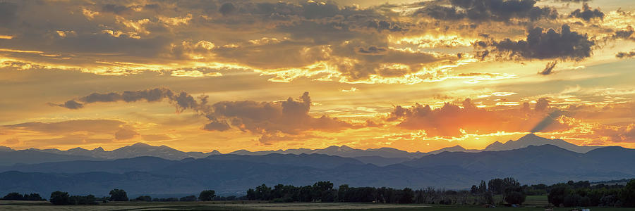 Colorado Rocky Mountain Front Range Panorama Sunset Photograph