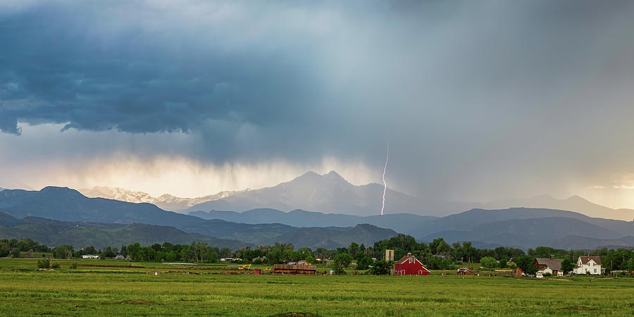 Colorado Rocky Mountain Red Barn Country Storm Photograph