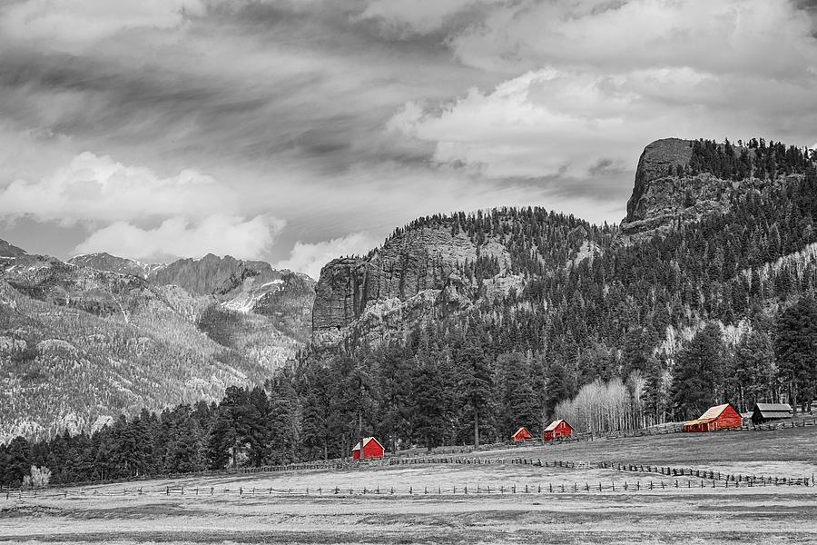 Colorado Western Landscape Red Barns Photograph