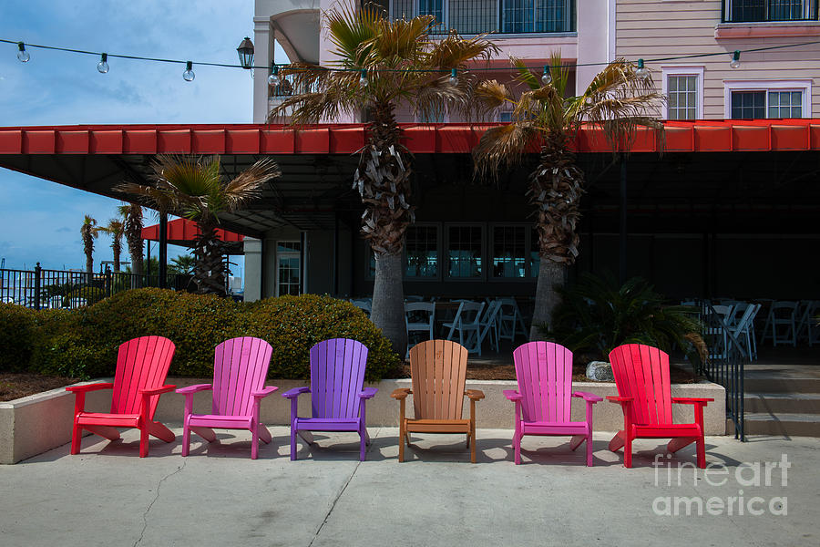 Colorful Adirondack Chairs Photograph