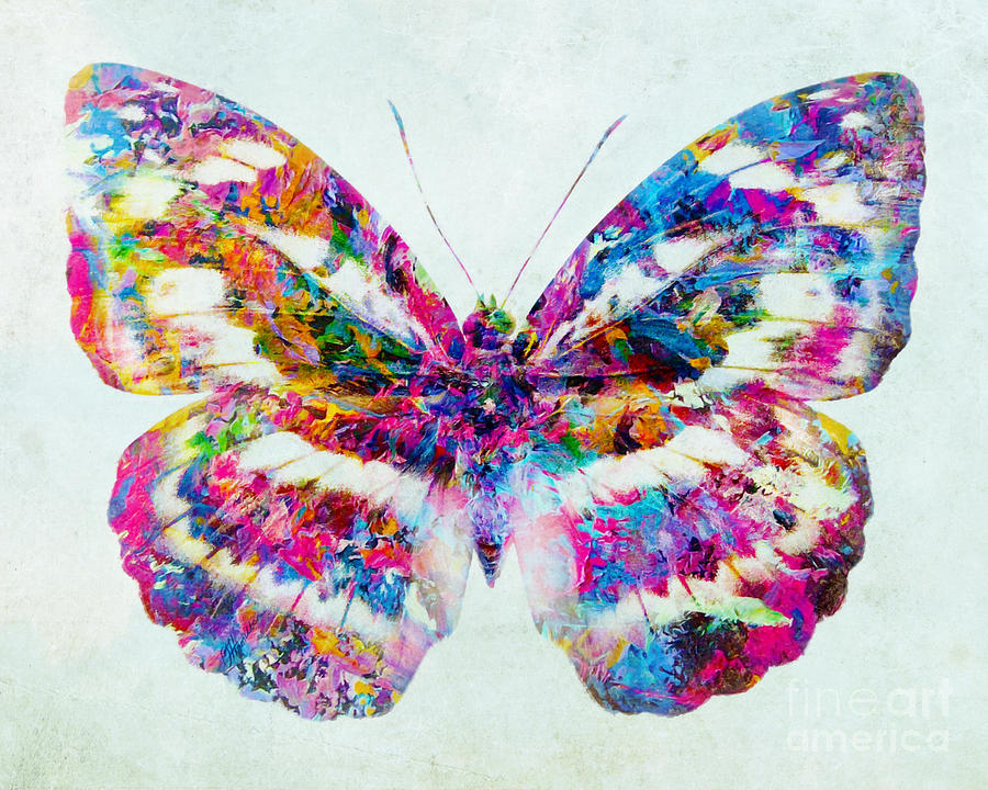 Colorful Butterfly Art Mixed Media By Olga Hamilton