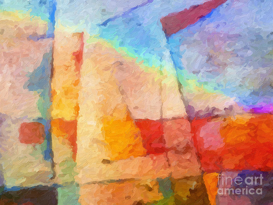 Abstract Painting - Colorful Coast by Lutz Baar