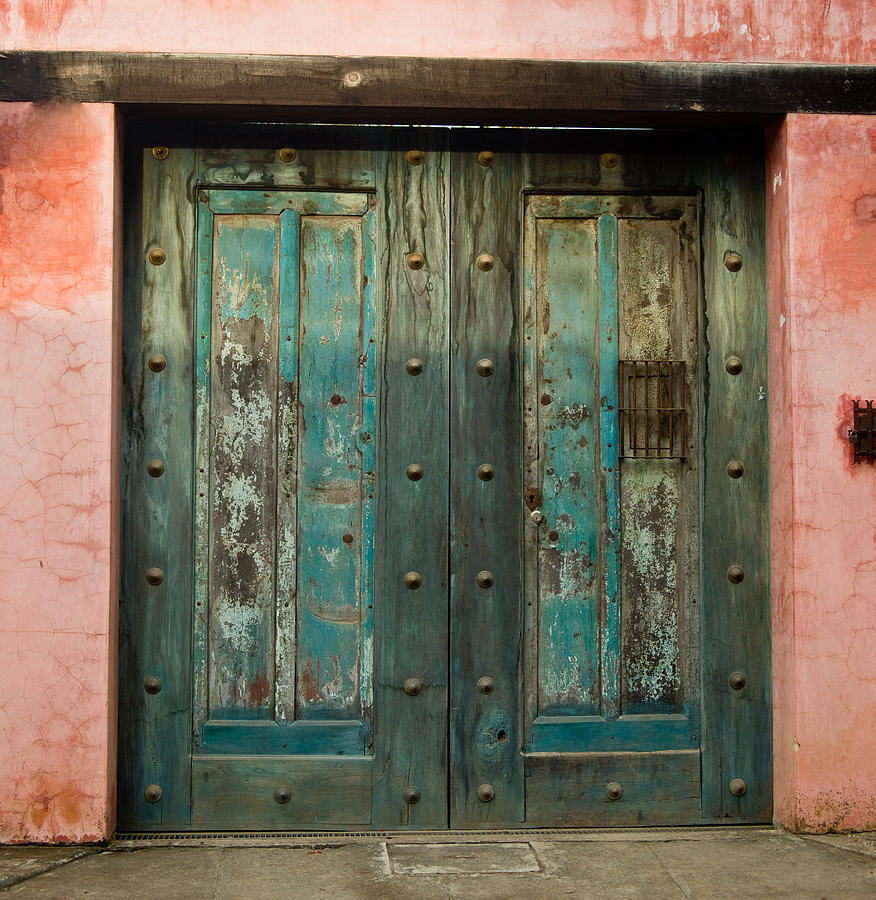 Colorful Photograph - Colorful Doors Antigua Guatemala by Douglas Barnett