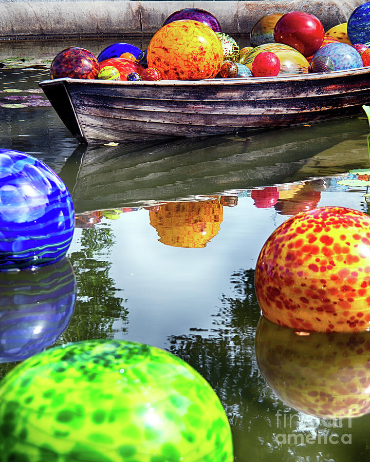 Colorful Glass Spheres Photograph