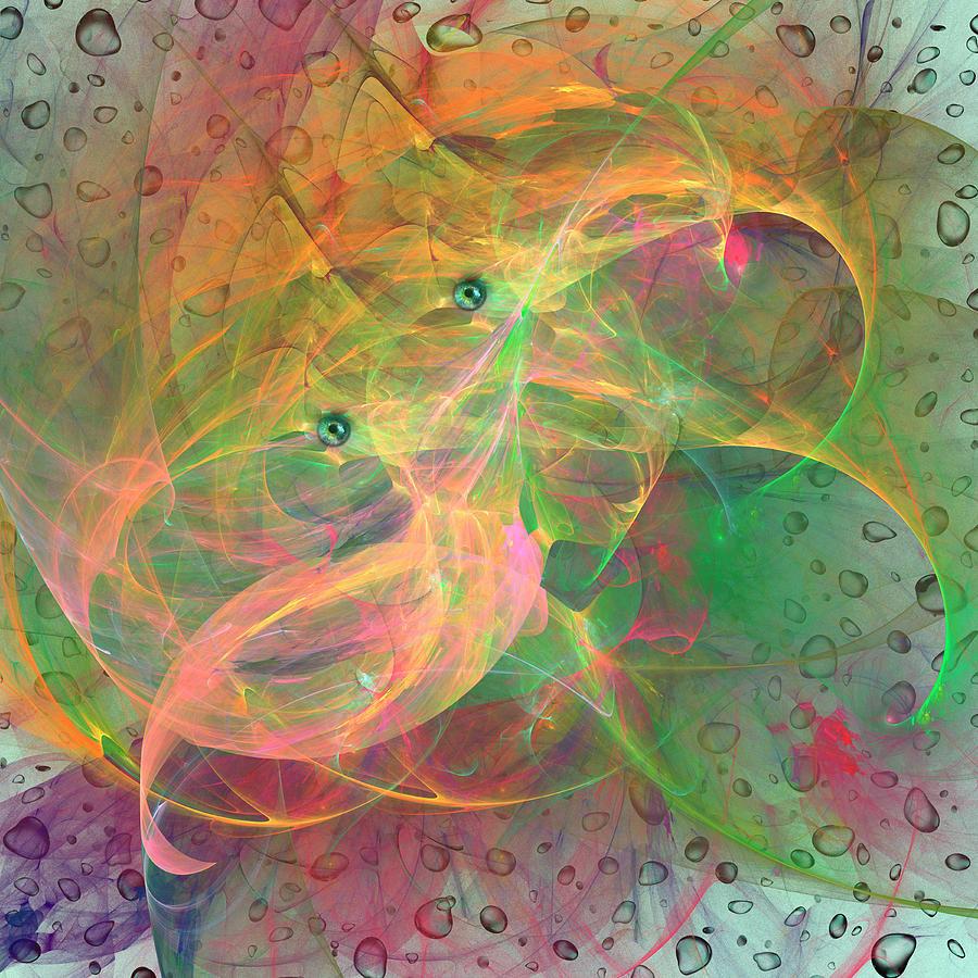 Colorful Jellyfish Digital Art by Ivanoel Art