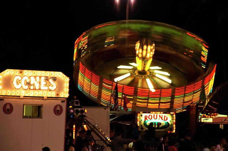Colorful Round Up Wheel Photograph