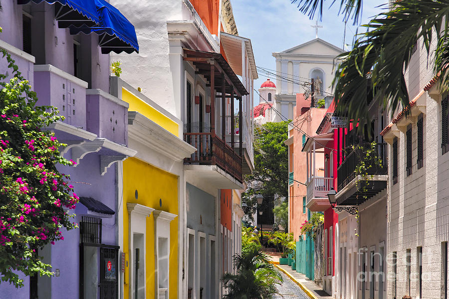 Architecture Photograph - Colorful Street Of Old San Juan by George Oze