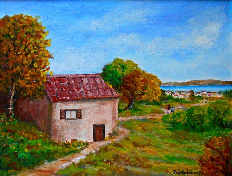 Landscapes Painting - Colors Of Autumn1 by Constantinos Charalampopoulos