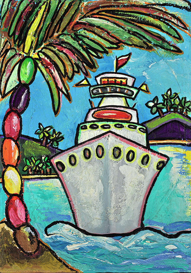 Cruise Ship Painting - Colors Of Cruising by Patti Schermerhorn