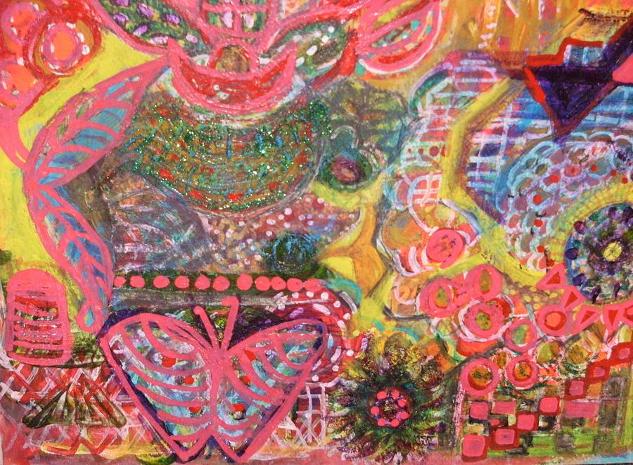 Colours And Shapes Mixed Media - Colours And Shapes Medley by Anne-Elizabeth Whiteway