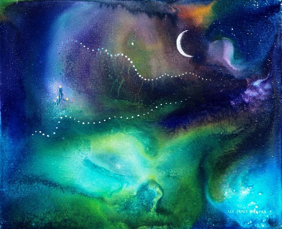 Spiritual Painting - Columbian Moonrise by Lee Pantas