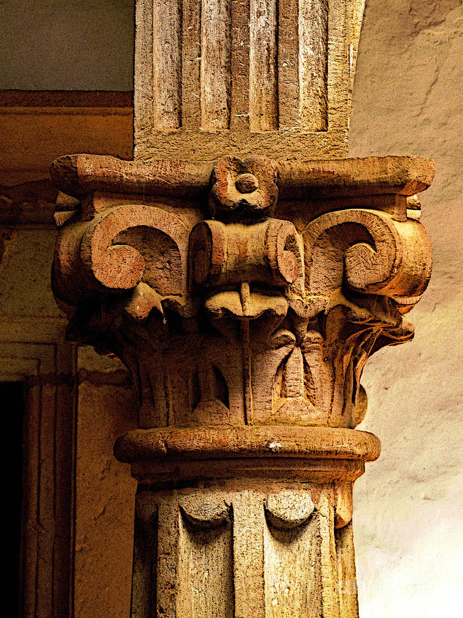 Patzcuaro Photograph - Columns Capital by Mexicolors Art Photography
