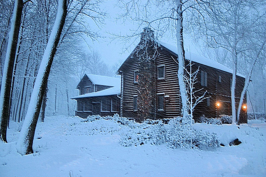 Log Cabin Photograph - Comfort From The Cold by Kristin Elmquist