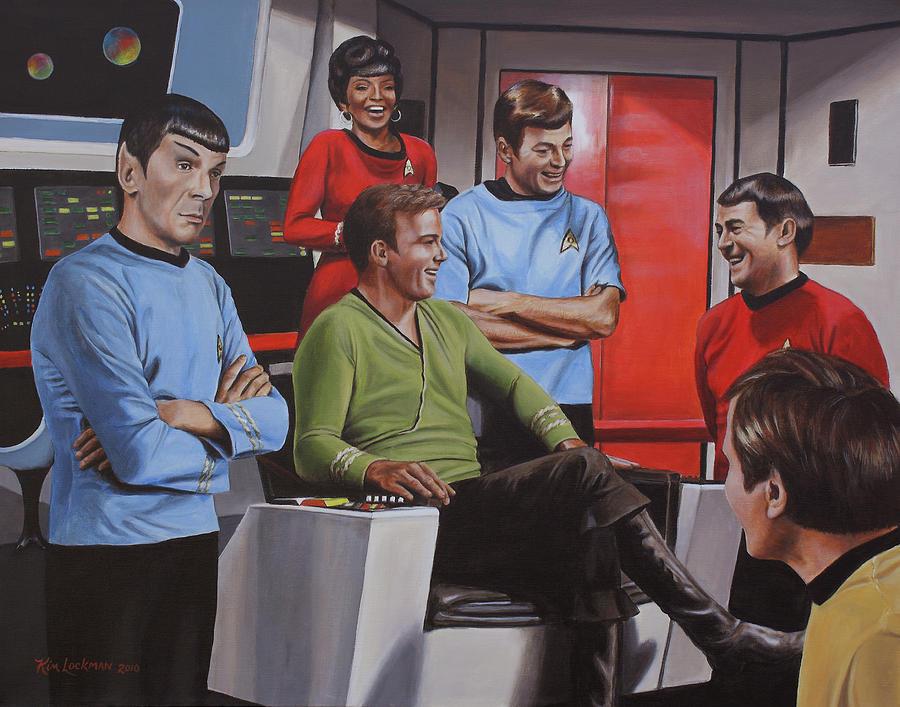 Star Trek Painting - Comic Relief by Kim Lockman