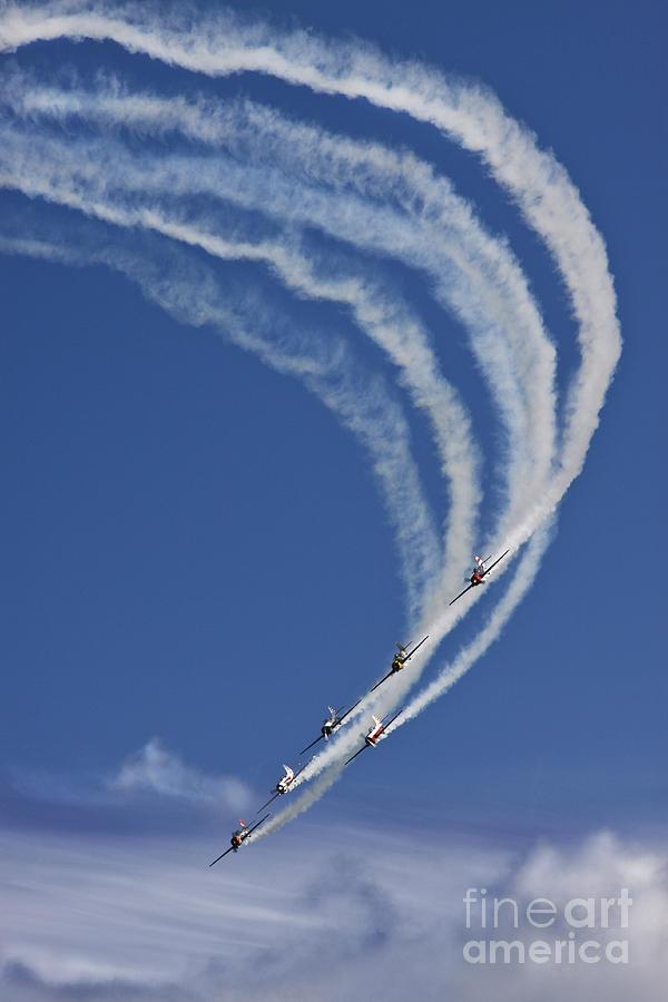 Aerostars Yak-50 Display Team Photograph - Coming Back From Heaven by Angel  Tarantella