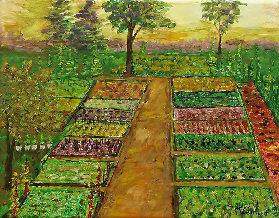 Community Garden Painting by Mike Caitham