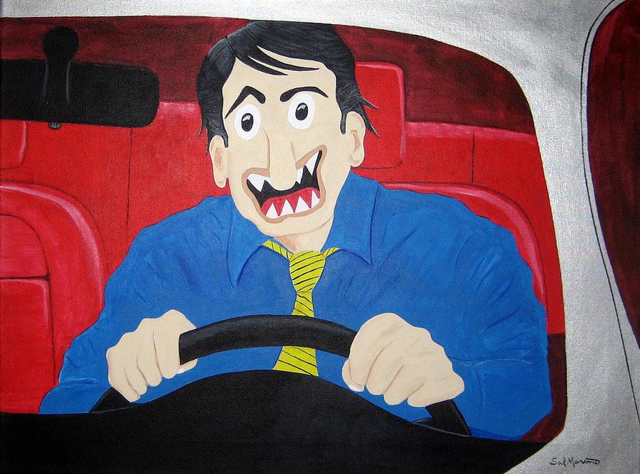 Transportation Painting - Commuter by Sal Marino
