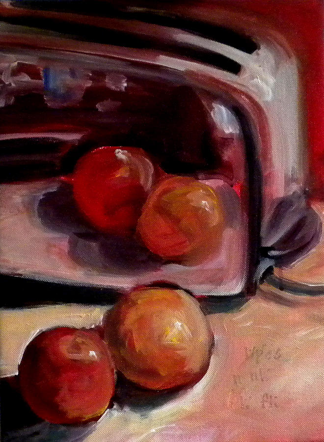 Still Life Painting - Comparing Apples And Oranges 2 by Paula Strother