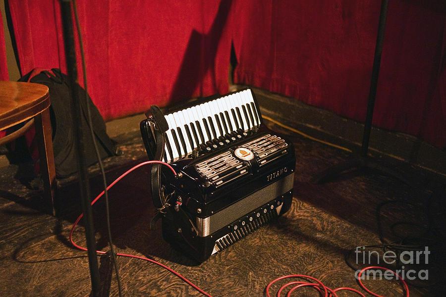 Accordion Photograph - Concertina On The Floor by Eddy Joaquim