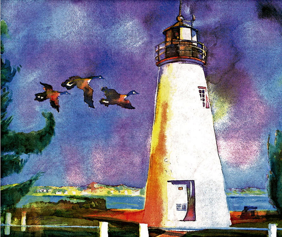 Watercolor Painting - Concord Point Lighthouse by Dean Gleisberg