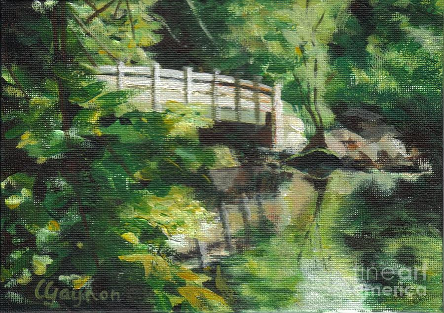 Concord Painting - Concord River Bridge by Claire Gagnon