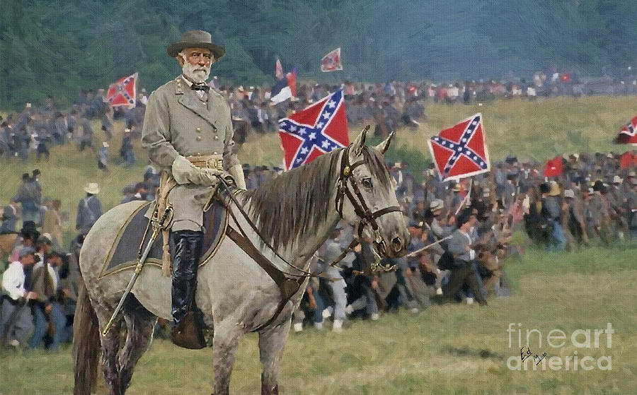 Confederate gen robert e lee and traveller his horse for Lee s painting