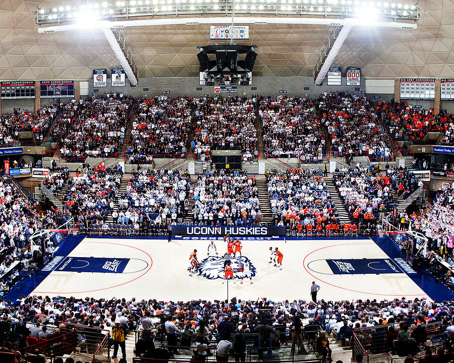 Storrs Photograph - Connecticut Huskies Harry A. Gampel Pavilion by Replay Photos