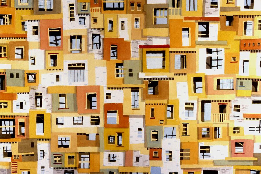 Urban Painting - Construction 30 by Ashley Lathe