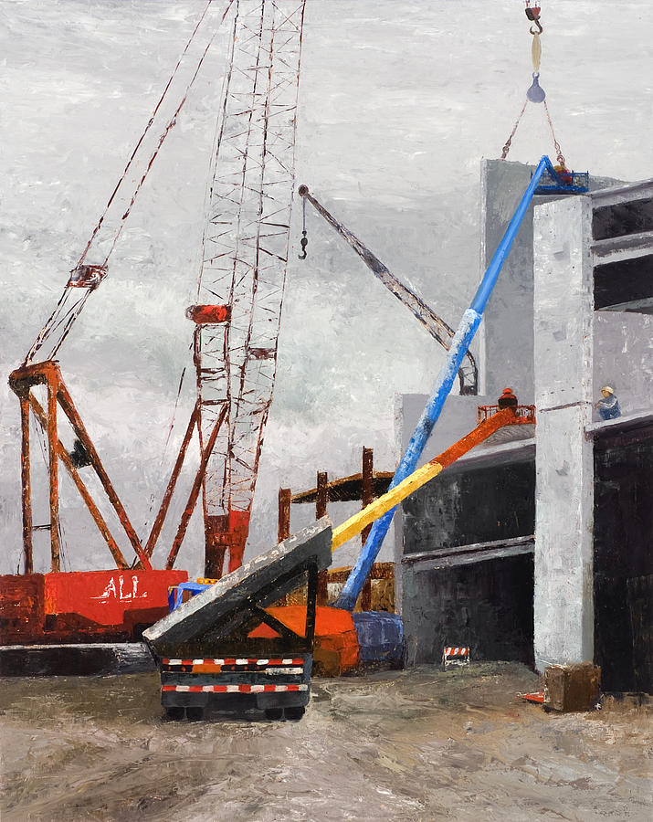 Construction Study In Grey Painting by Nancy Albrecht