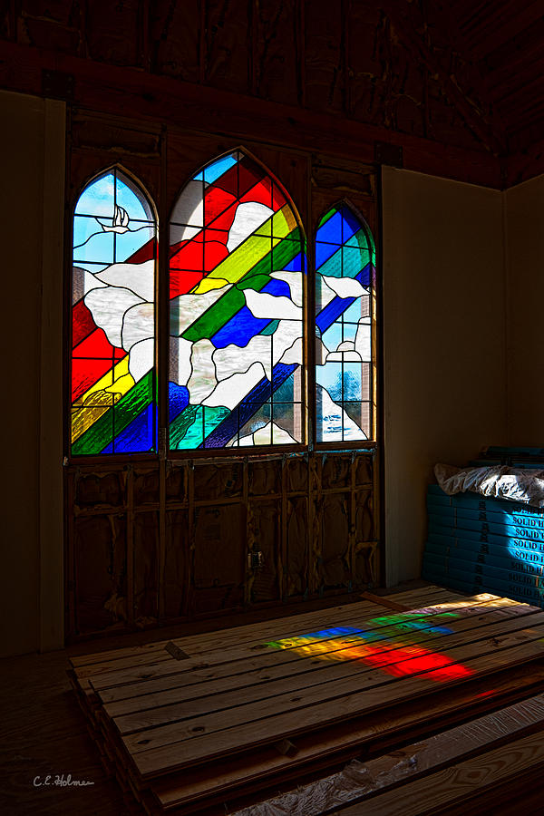 Windows Photograph - Construction Under Colors by Christopher Holmes