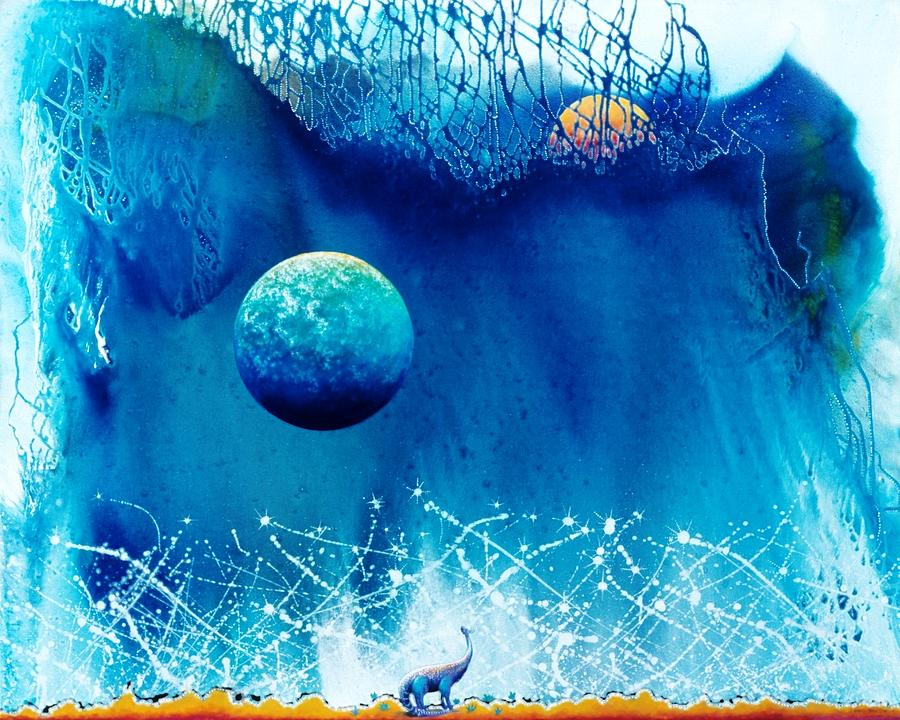 Spiritual Painting - Contemplating The Leap To Hyperspace by Lee Pantas