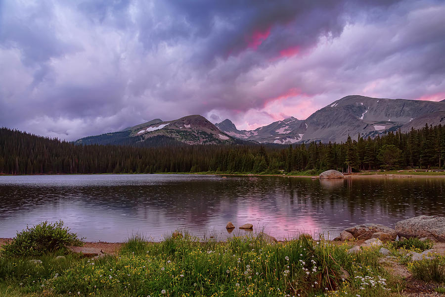 Continental Divide Stormy Rainy Sunset Sky Photograph