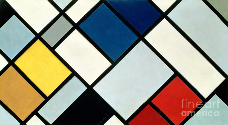 Contra-composition Painting - Contracomposition Of Dissonances by Theo van Doesburg