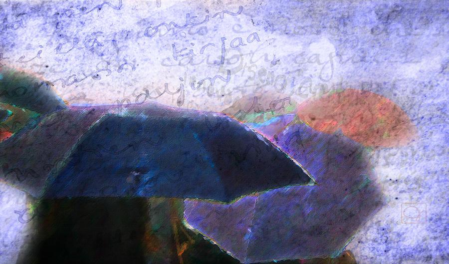 Umbrella Digital Art - Conversations In The Rain by Jean Moore