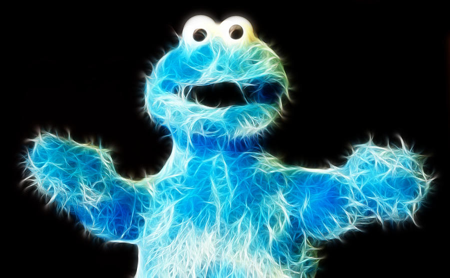 Lee Dos Santos Photograph - Cookie Monster - Sesame Street - Jim Henson by Lee Dos Santos