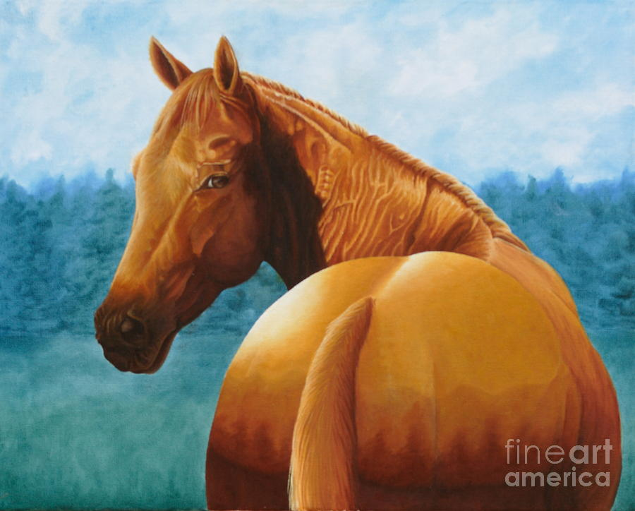 Copper Bottom - Quarter Horse Painting