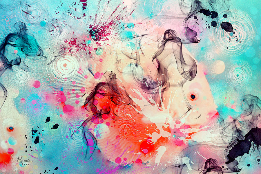 Fish Painting - Coral World by Rosalina Atanasova