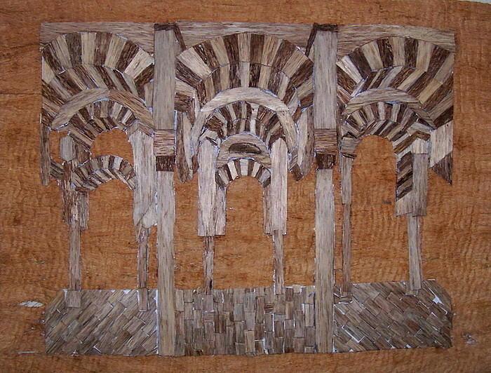 Cordoba Mezquita. Eagle Wood Relief - Cordoba Mezquita by Joedhi