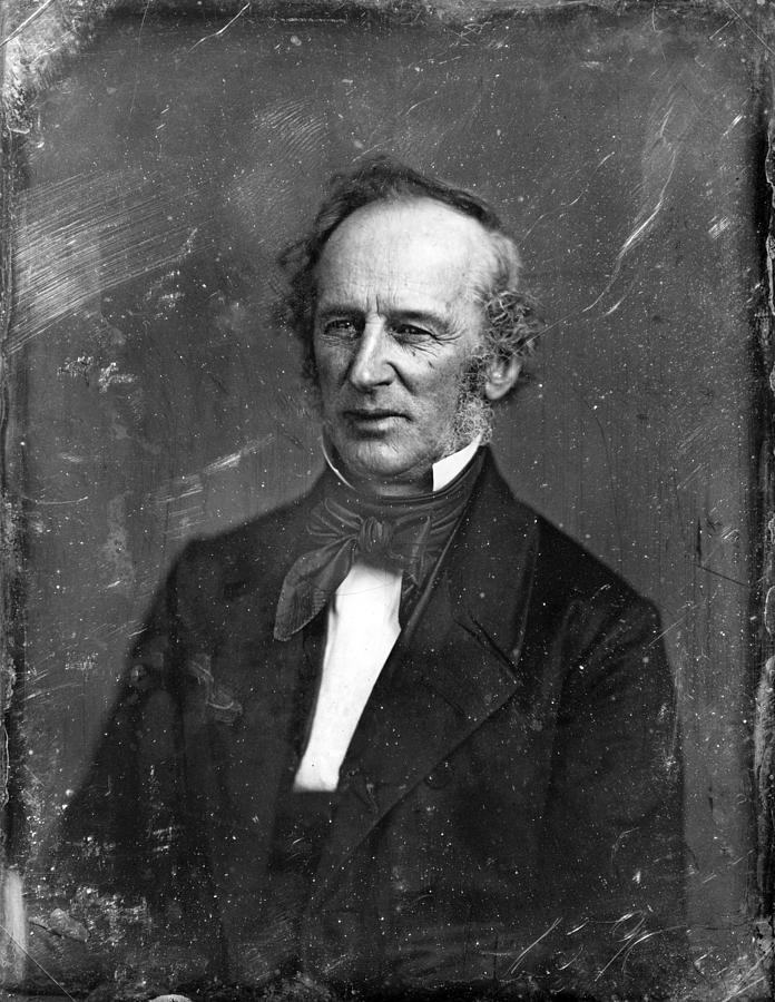 1850s Portraits Photograph - Cornelius Vanderbilt. Half Plate by Everett