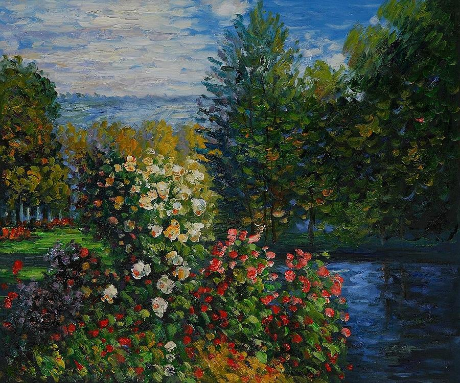 Monet Painting - Corner Of The Garden At Montgeron by Claude Monet