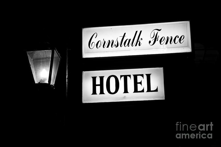 New Orleans Photograph - Cornstalk Fence Hotel by Leslie Leda