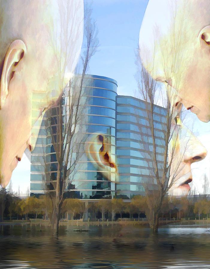 Head Photograph - Corporate Cloning by Kurt Van Wagner