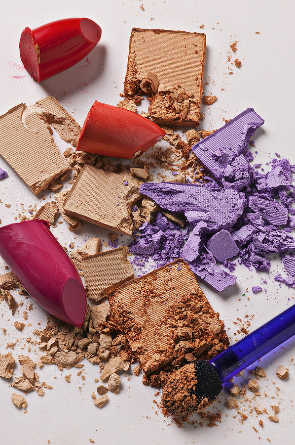 Cosmetics Photograph - Cosmetics Mess by Garry Gay