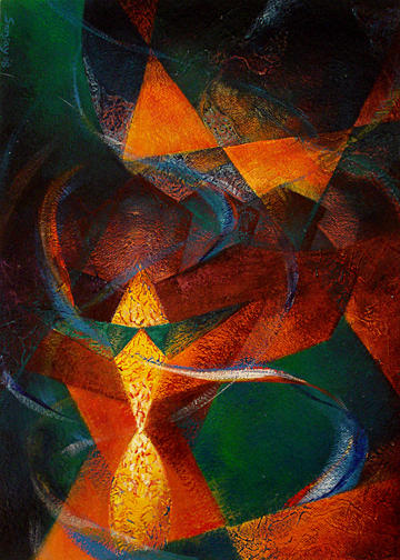 Oil Painting Painting - Cosmic Arround Us by Sanjay Kumar