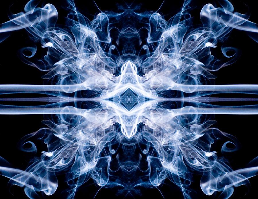 Smoke Photograph - Cosmic X by Val Black Russian Tourchin