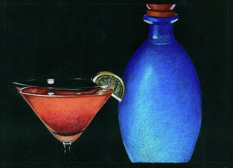 Martini Drawing - Cosmo by Ashley Macinnis